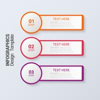 Three steps infographics. 3d Modern business template.