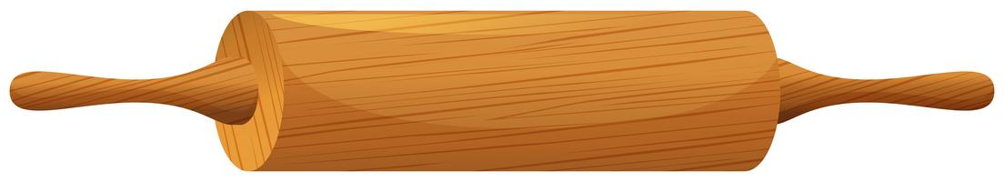 Roller pin made of wood vector