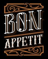 Conception de lettrage de Bon appétit