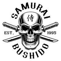 Crâne avec katana (sur fond blanc)