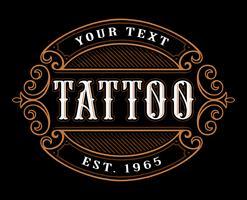 Modelo de logotipo de tatuagem.