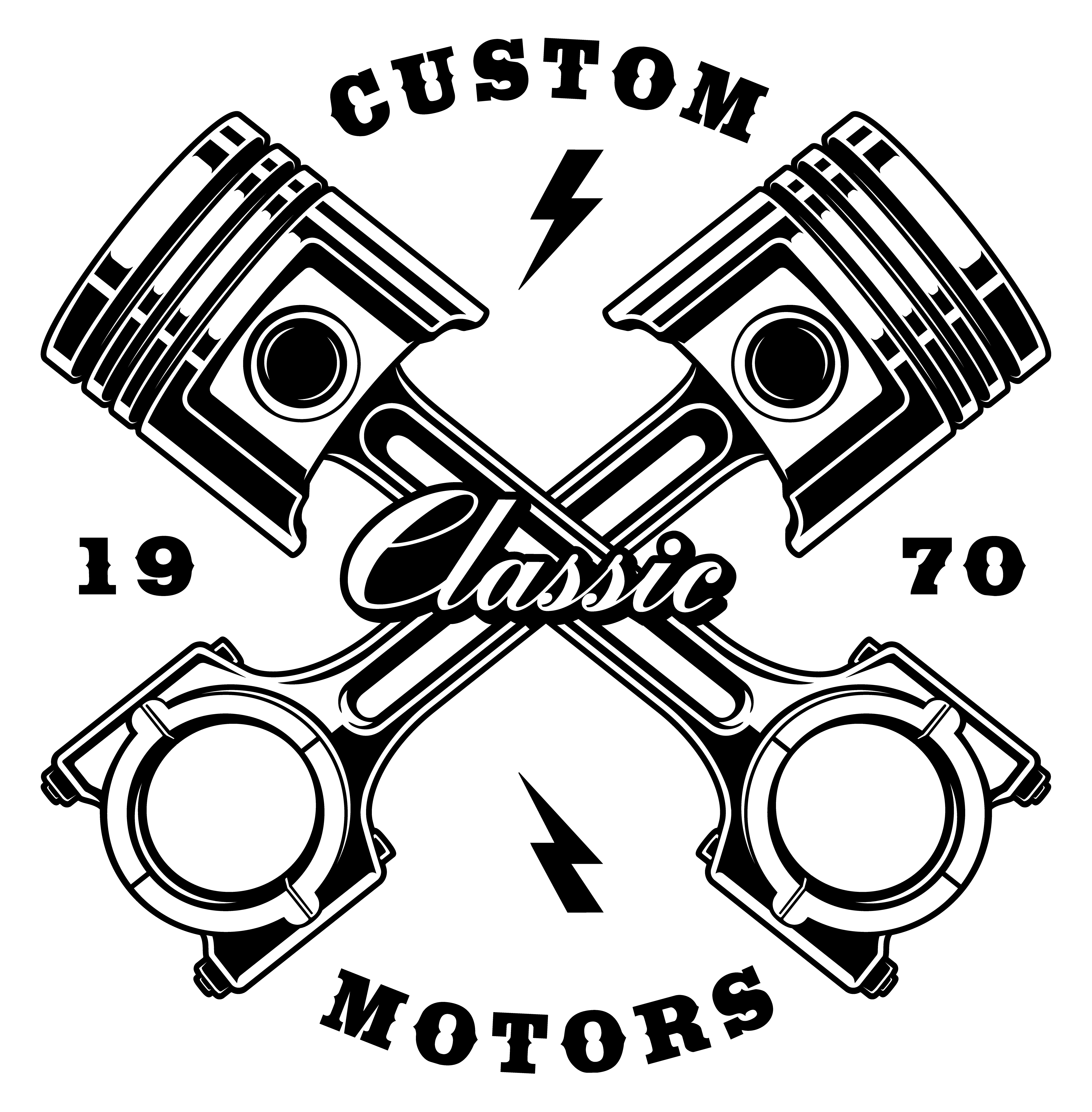 Vintage crossed pistons on white background - Download Free ...