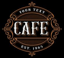 Cafe logo design. vector