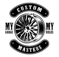Emblema vintage do disco do carro