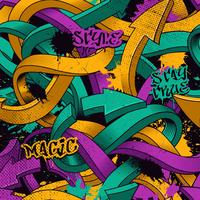Seamless pattern with graffiti arrows