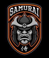Badge of samurai warrior