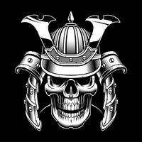Cráneo samurai vector