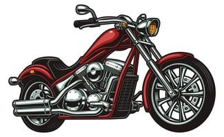 Vector motorcycle on white background