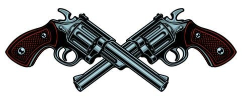 Vector illustration with guns.