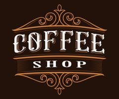Coffee vintage lettering. vector