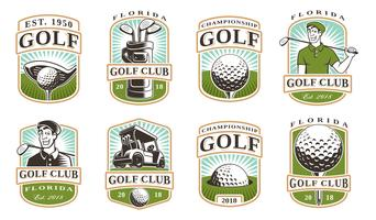 Set vettoriale di golf (12 logo)