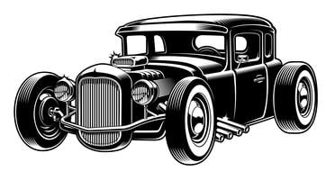 Vector illustration of hot rod