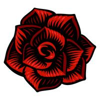Vector illustration of rose flower.