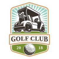 Golf cart vector logo