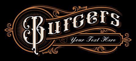 Progettazione di lettering di hamburger.