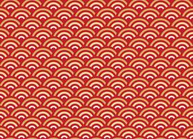 Chinese seamless pattern gold and red wave new year background
