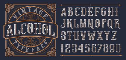 Vintage dekorative Schriftart.