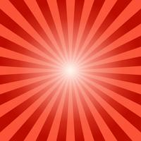 Abstracte zonnestralen rode stralen achtergrond - vectorillustratie
