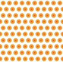 Vector Illustration des orange Farbhintergrundes der abstrakten nahtlosen Blumen