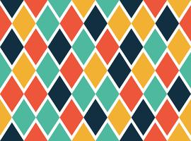 Seamless pattern of colorful geometric shapes - Vector illustration