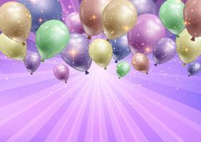 Firande bakgrund med ballonger