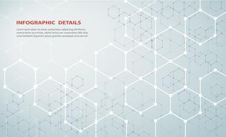 die Form des Hexagon Konzept Design abstrakt Technologie Hintergrund