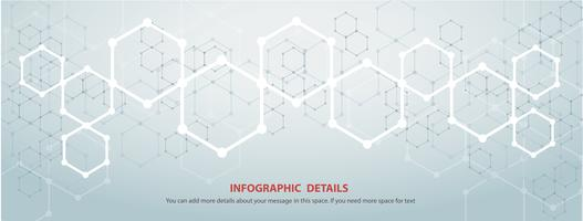 de vorm van zeshoek conceptontwerp abstracte technische achtergrond