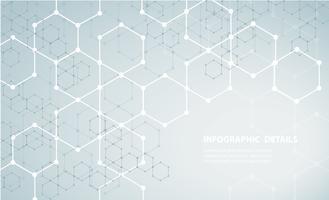 formen av hexagon koncept design abstrakt teknik bakgrund