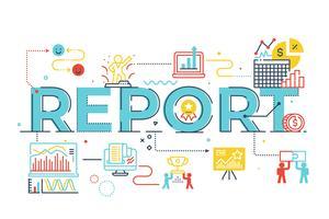 Report word lettering illustration