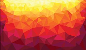 fundo de cores quentes de triângulo abstrato