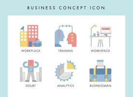Business concept icons