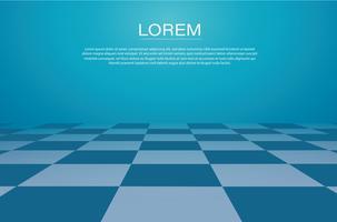 uma grade de perspectiva. ilustração em vetor fundo tabuleiro de xadrez