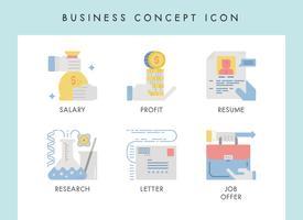 Ícones do conceito de negócio