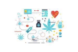 Medicinsk cannabis koncept illustration