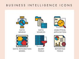Icone di business intelligence