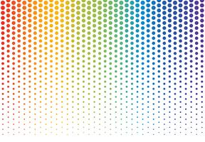 Vector illustration of rainbow polka dots background