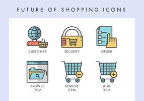 Future of shopping icons
