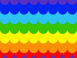 Abstract seamless rainbow circle pattern background - Vector illustration