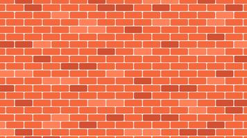 Red or orange brick wall background - vector illustration
