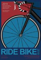 Cycling Poster Vector Illustration