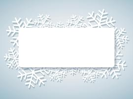 snowflake banner for web Christmas concept background  vector