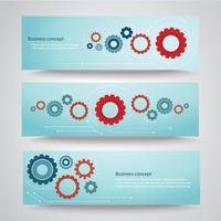 gears background cog wheel banner vector