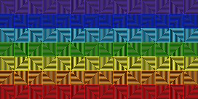 Abstract line square rainbow geometric background - Vector illustration
