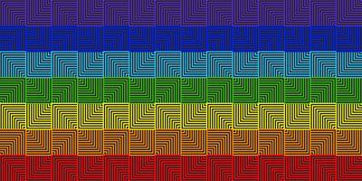 Resumo linha geométrica quadrada arco-íris - ilustração vetorial