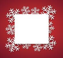snowflake banner för webjulkoncept bakgrund