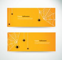 Set Halloween-Spinne und Wab für Website-Header-Banner-Designs