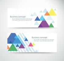 conjunto de fondos de escritorio de fondo de triángulo para encabezados de sitios diseños de banners