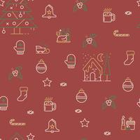 Patrón de navidad sin fisuras