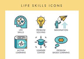 LIfe skills icons vector