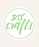 DIY crafts word lettering
